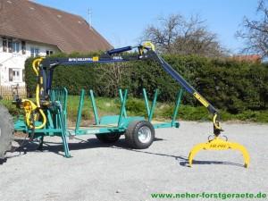 Forstner F6 mit Källefall Forstkran FB51L